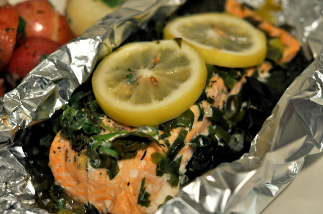 Salmon en Papillote with Lemon and Swiss Chard | Taste As You Go