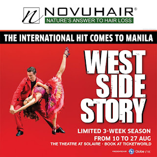 novuhair WEST SIDE STORY musical premieres at The Theatre at Solaire on August 10.
