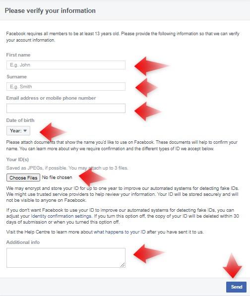 recover hack facebook id