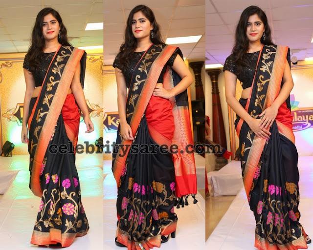 Tara Chowdary Silk Saree