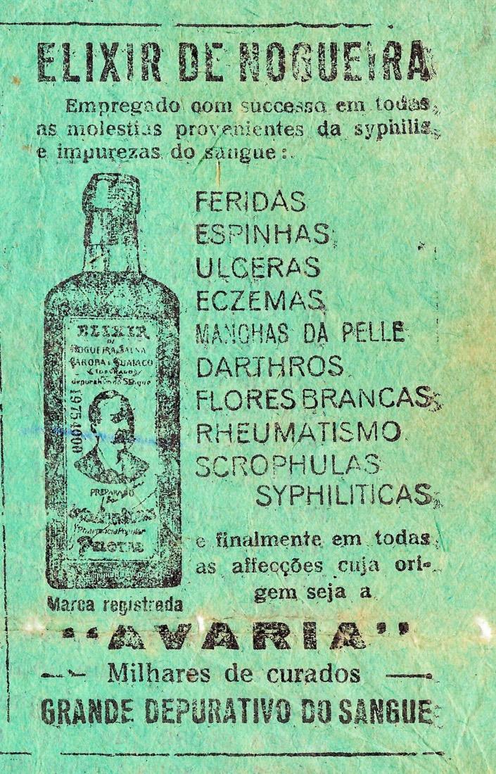 Anúncio antigo do Elixir de Nogueira veiculado em 1932