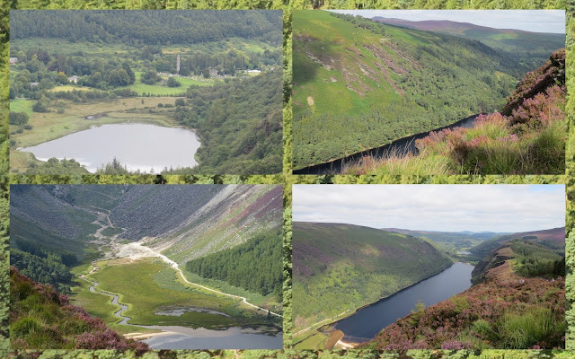 Hillwalking at Glendalough in County Wicklow - Views of Upper and Lower Lakes