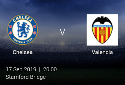 LIVE MATCH: Chelsea Vs Valencia UEFA Champions League 17/09/2019