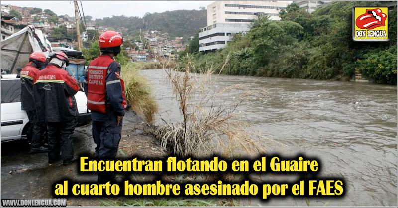 Encuentran flotando en el Guaire al cuarto hombre asesinado por el FAES