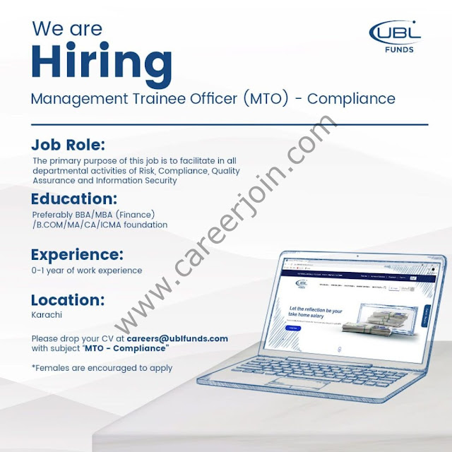 UBL Fund Managers Jobs Management Trainee Officer MTO