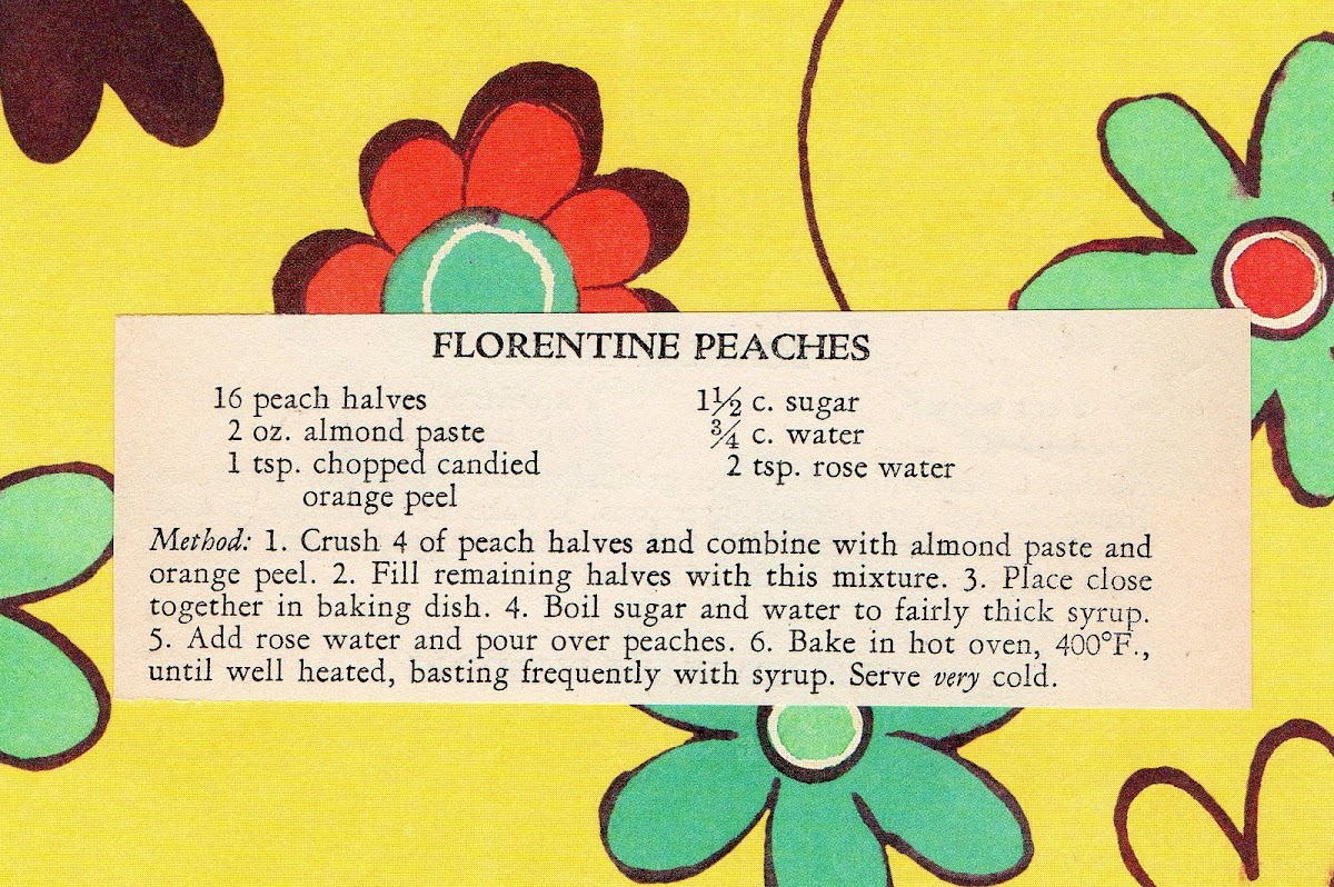 Florentine Peaches (quick recipe)