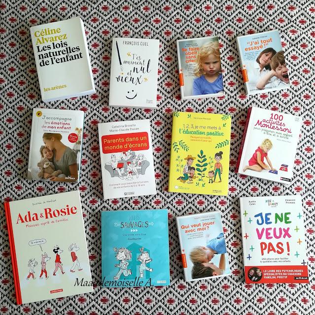 || Mes dernières lecture # 5 : Les lois naturelles de l'enfant, T'es vraiment nul et vieux, Se faire obéir sans crier, J'ai tout essayé, J'accompagne les émotions de mon enfant, Parent dans un monde d'écrans, 1,2,3 je me mets à l'éducation positive, 100 activités pour préparer mon enfant à lire et à écrire, Ada et Rosie, Jolis sauvages, Qui veut jouer avec moi, Je ne veux pas