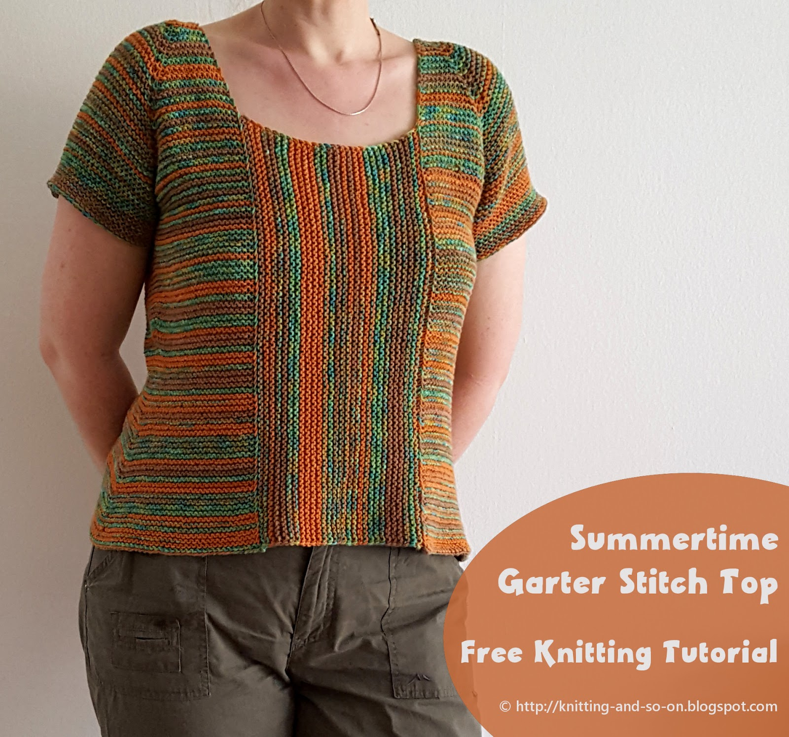 Knitting And So On Summertime Garter Stitch Top