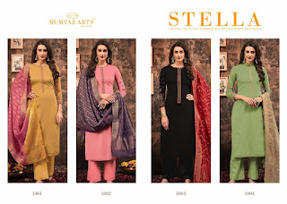 Mumtaz Arts Stella Jam Satin Salwar Kameez Collection In Wholesale Rate