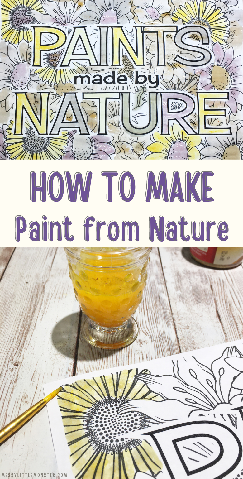 Nature paint. How to make paint from nature and painting with nature printable.