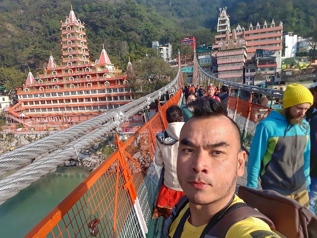 Lakshman Jhula Bridge in Rishikesh India
