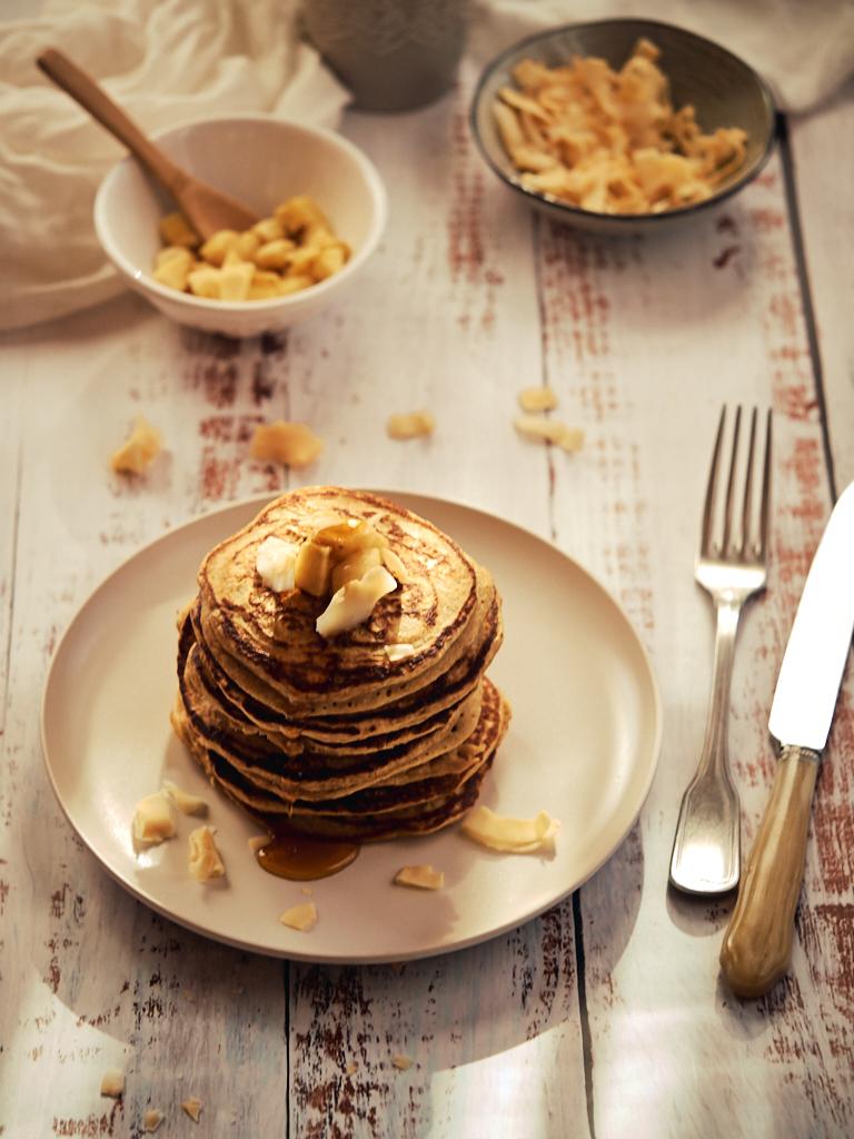 Tortitas de plátano y avena