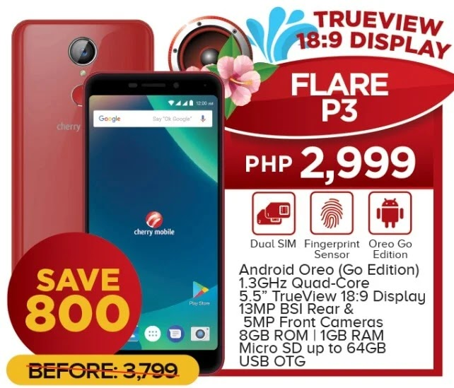 Cherry Mobile Flare P3 Now Only Php2,999