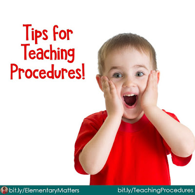 Tips for Teaching Procedures: Here are three tips to help set expectations for procedures at the beginning of the school year!