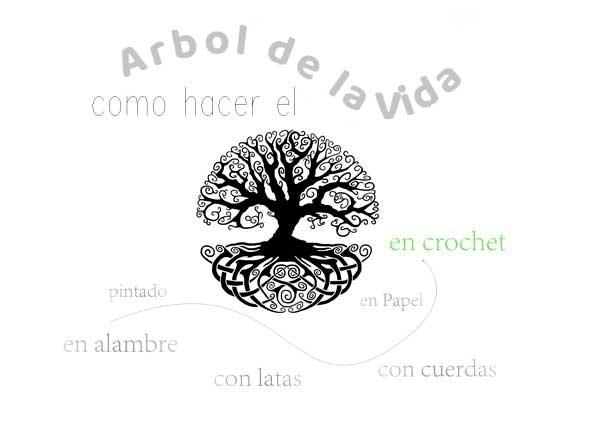 árbol de la vida, manualidades, mágico, papel, crochet, alambre, tatuajes