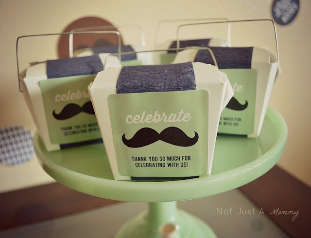 Little Man First Birthday Lunch favors