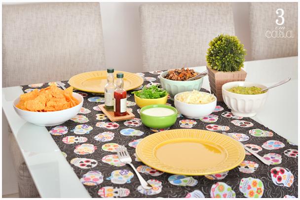 mesa posta comida mexicana
