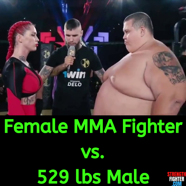 Female MMA Fighter vs Sumo. StrengthFighter.com