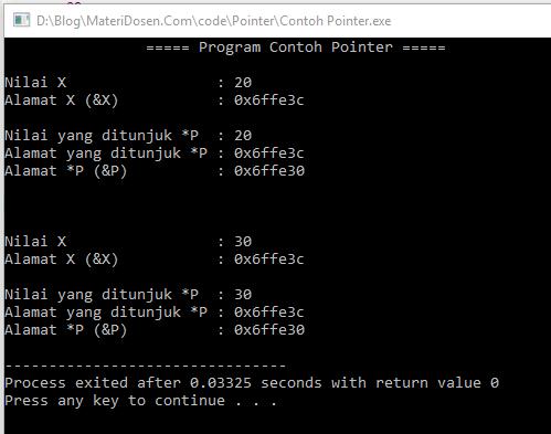 Contoh Program Sederhana Pointer dalam C++, Lengkap dengan Pembahasan