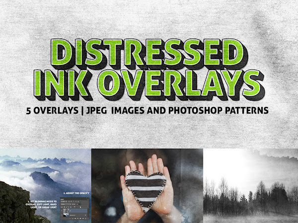 Download 5 Distressed Ink Overlays Texture Free