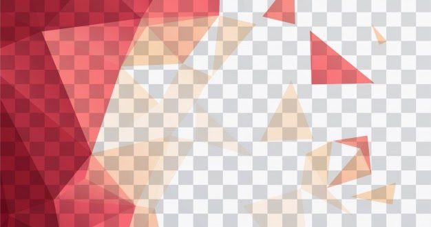 polygonal shapes on a transparent background free vector