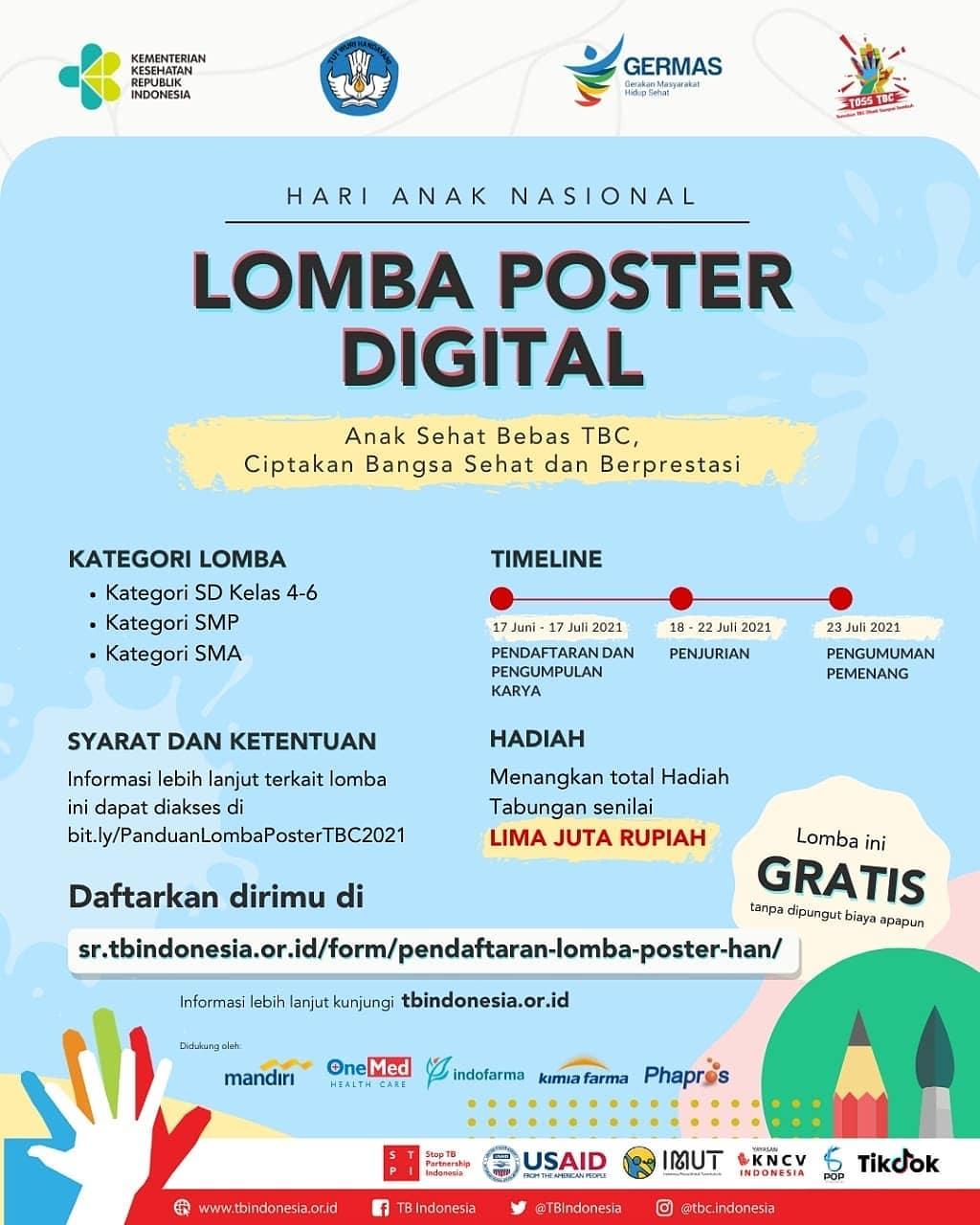 Lomba Poster Digital TBC oleh Kementerian Kesehatan Republik Indonesia
