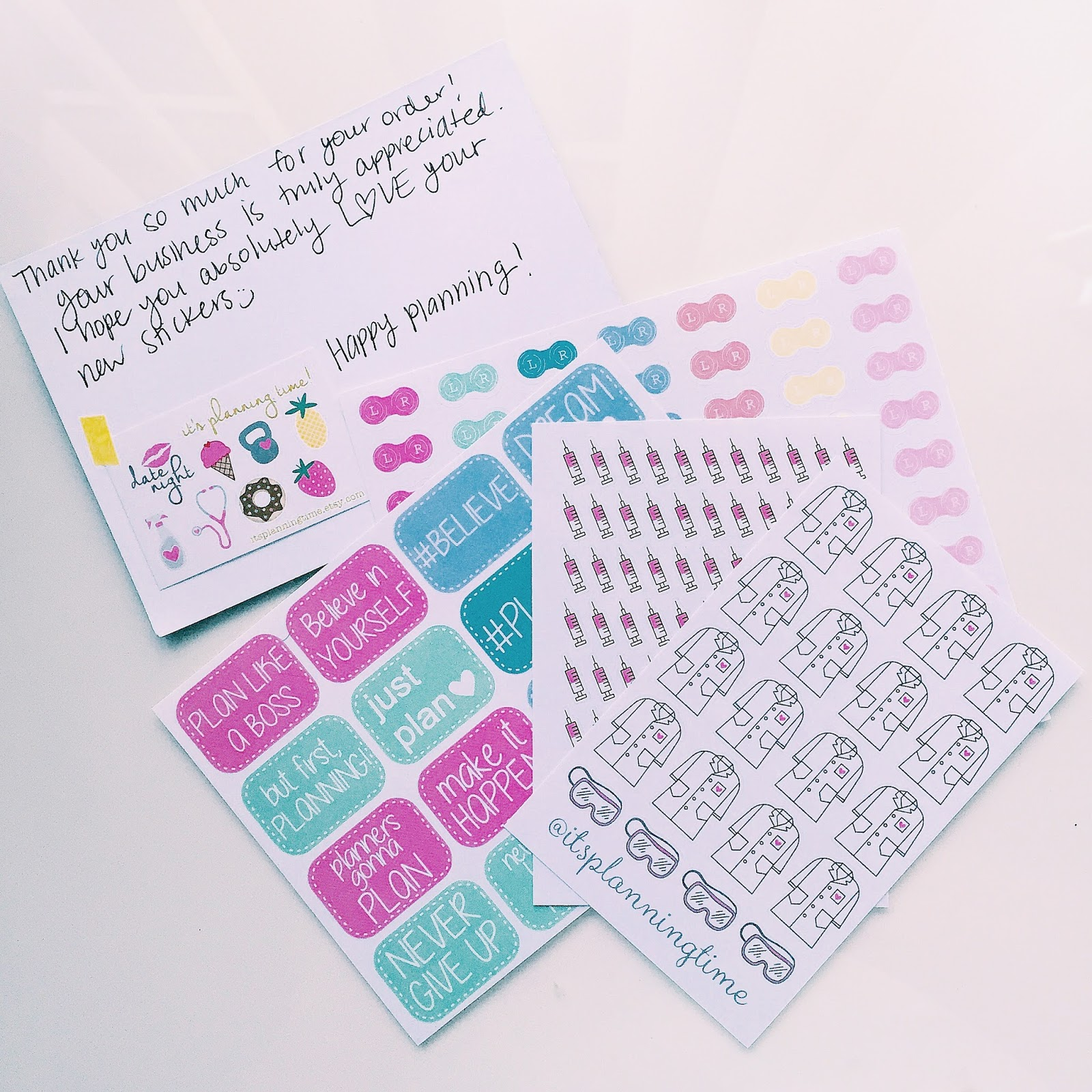 etsy planner sticker haul it's planning time