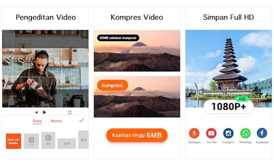 Aplikasi untuk memotong video di HP