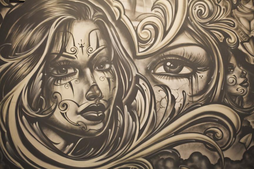 Girl Skull Wallpaper La Photo Art In The Streets Moca