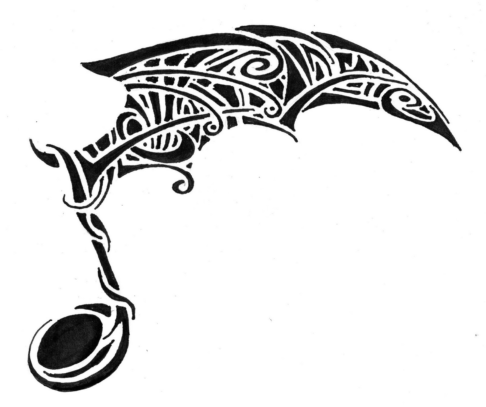 tatouage clé de sol tribal