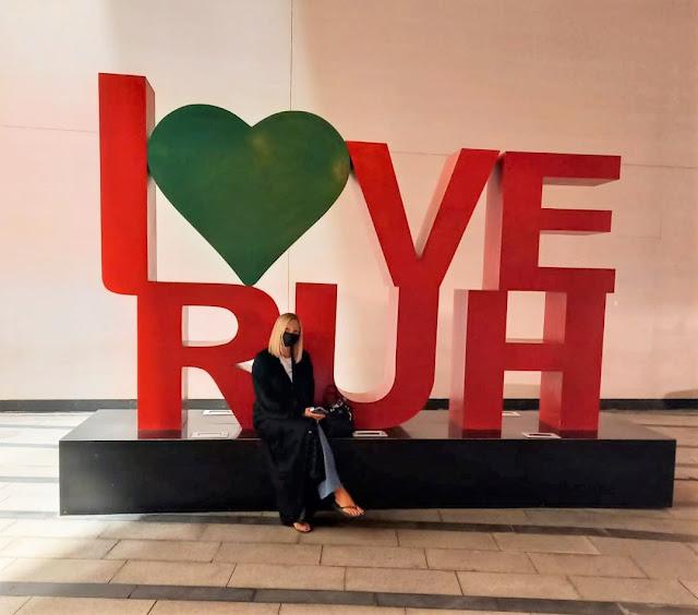 I heart Riyadh sign Riyadh Park Mall