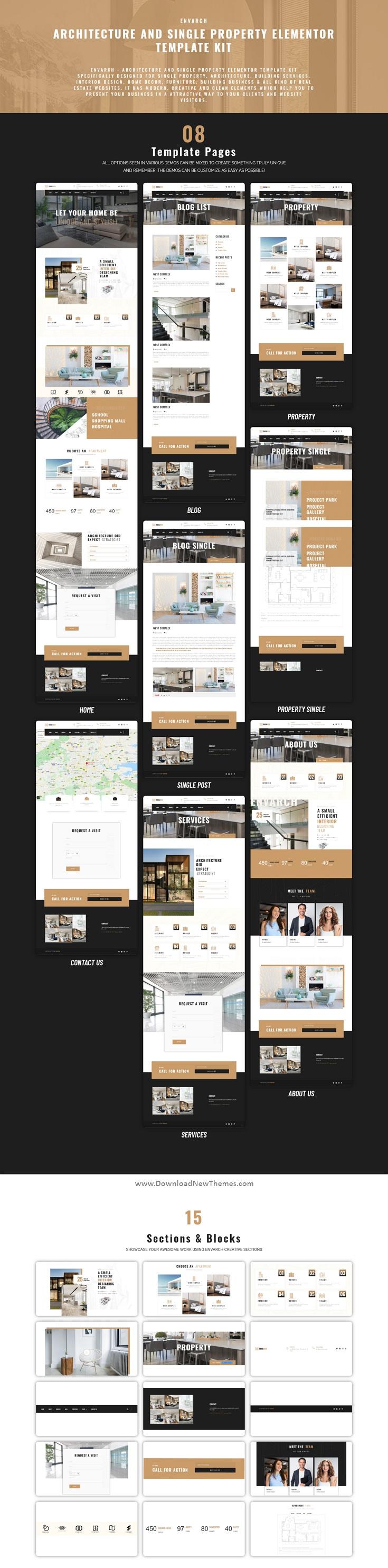 Architecture & Single Property Elementor Template Kit