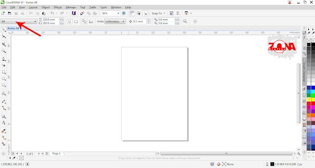 Cara Membagi Ukuran Kertas dengan Presisi Dengan Corel Draw X7