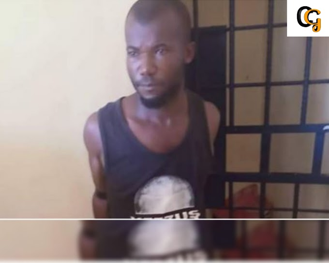 MAN PIECES HIS OWN SON WITH A CUTLASS IN ANAMBRA STATE,(PHOTOS).