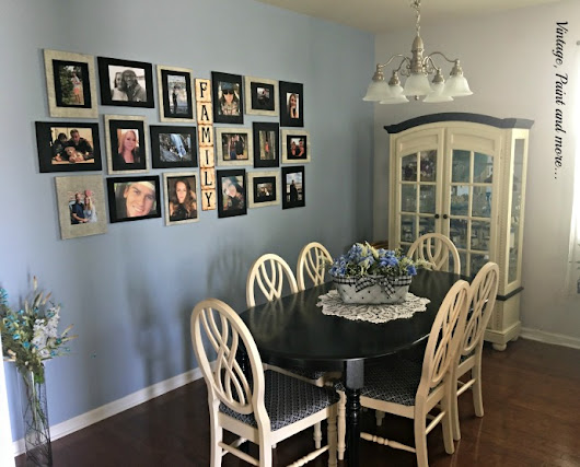 Vintage Dining Room Makeover Cone on a Budget