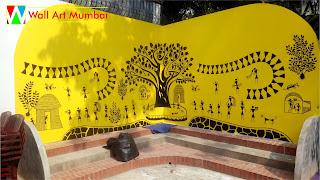 Warli Wall Art Mural Mumbai   Warli Wall Painting Mumbai   Artist India