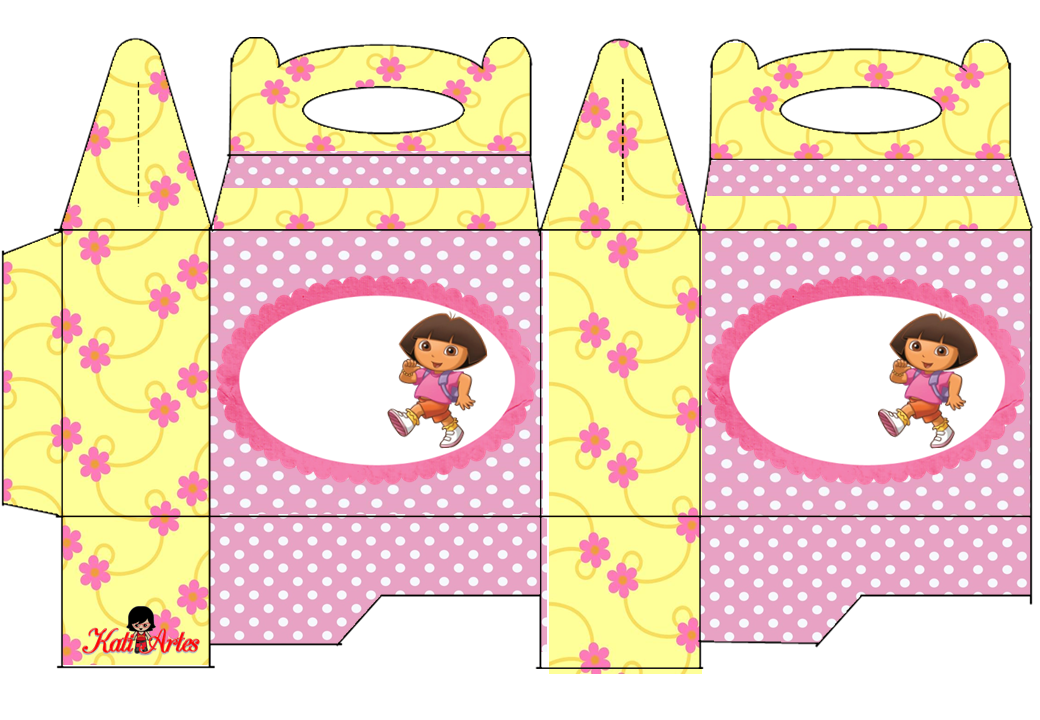 Dora the Explorer Free Printable Lunch Box.