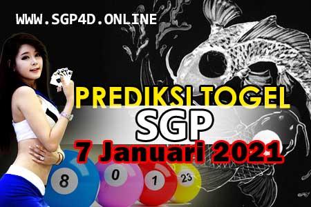 Prediksi Togel SGP 7 Januari 2021