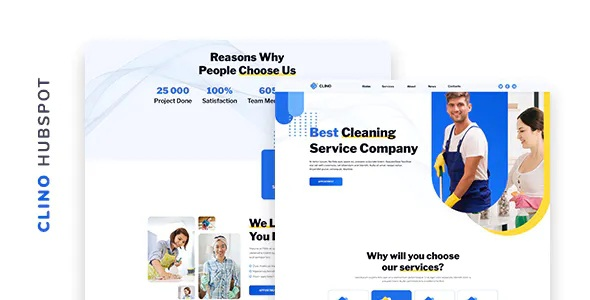 Best Cleaning Company HubSpot Theme