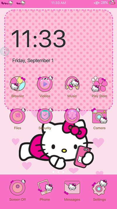 Oppo F3 Theme Pinkish Hellow Kitty Theme