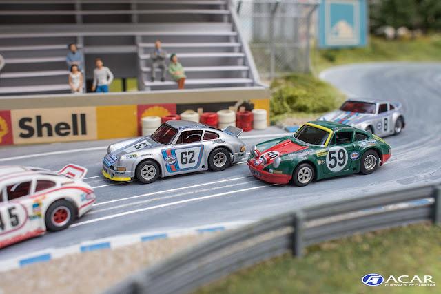 AFX Custom Porsche 911S Slotcar h0 Le Mans 1970