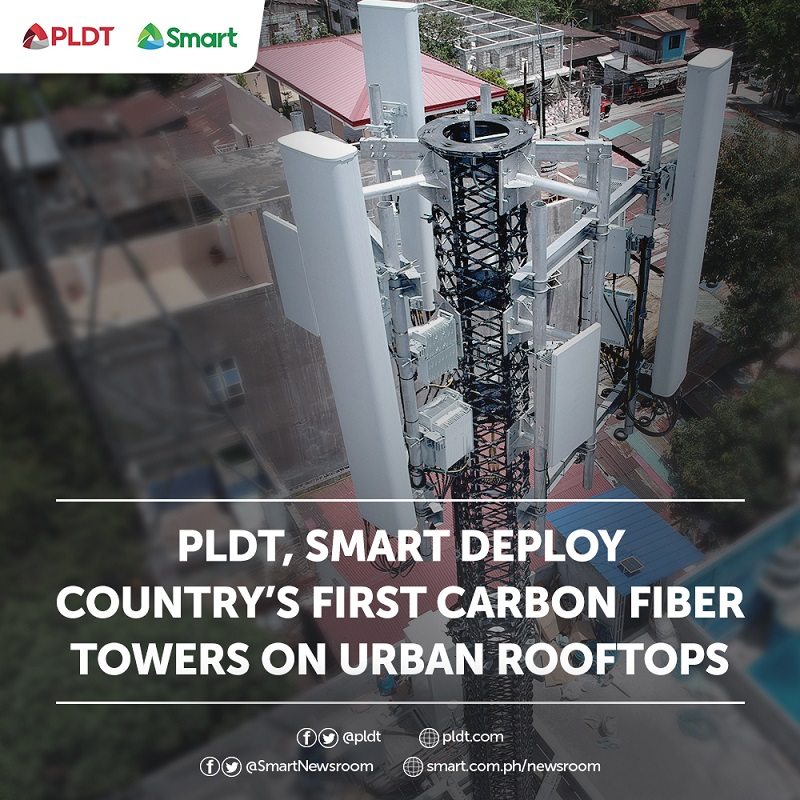 PLDT Group deploying PH's first carbon fiber towers on urban rooftops