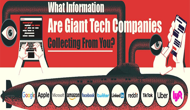 What Information Are Giant Tech Companies Collecting From You? #infographic