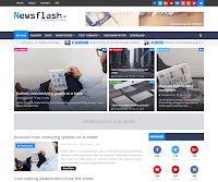 Newsflash Responsive - Responsive Magazine Blogger Template free.