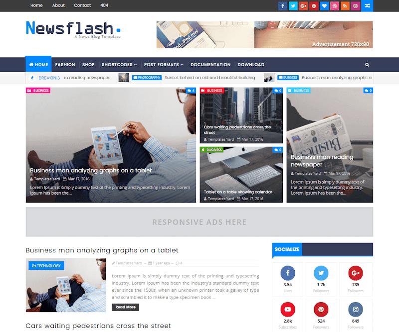 Newsflash Responsive Blogger Template