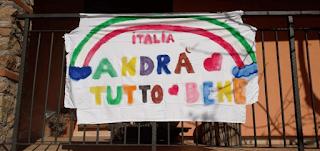 """""""كل شيء سيكون على يرام"""".. عبارة للتشجيع والأمل في أيام إيطاليا الصعبة"""