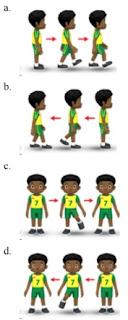gambar variasi gerakan berjalan kelas 3
