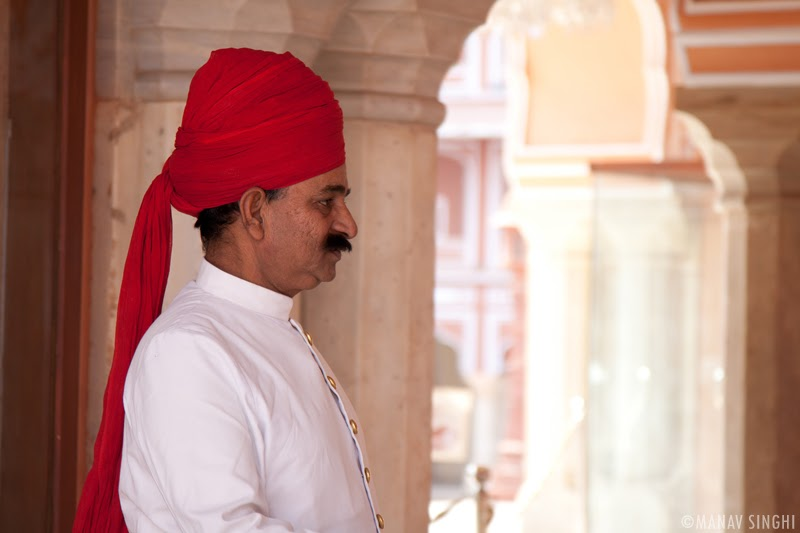 Royal Guard at The City Palace, Jaipur.