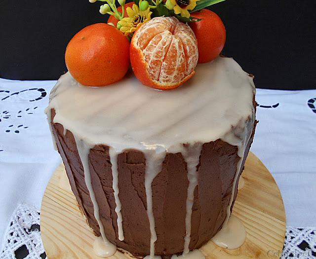 bolo de clementina cenoura e buttercream de chocolate