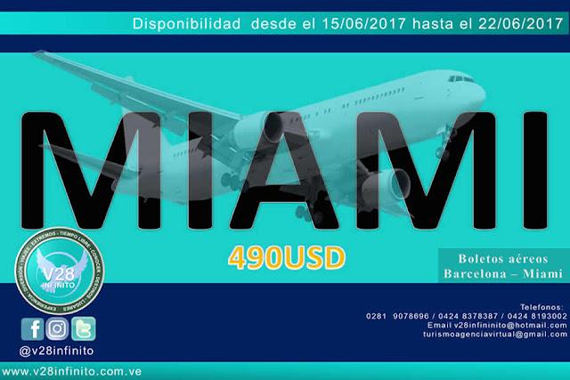 imagen Boletos aéreos Barcelona – Miami